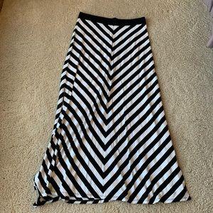 Calvin Klein Performance Black & White Maxi Skirt